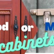 wood or metal cabinets